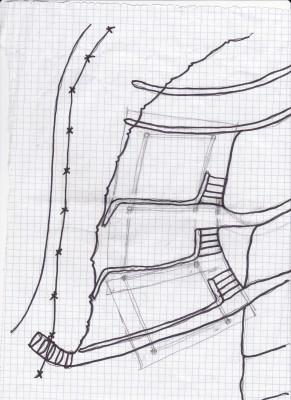 Tent platforms. sketch